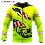 MC_Hoodie_Front_Zip_011AFIARB15-_I_Am_A_Cautious_Truck_Driver_Green_Version_Customized_Name_And_Flag_3D_Over_Printed_Shirt_For_Trucker.jpg
